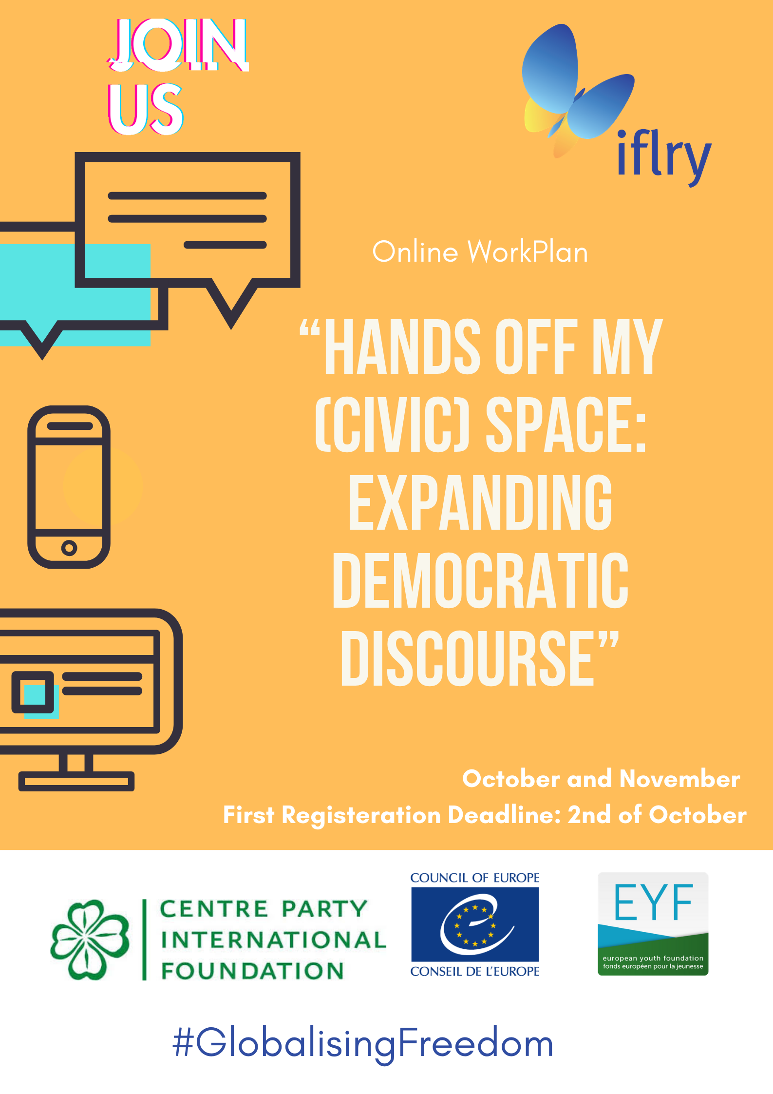 "Open Call for Participants – Online WorkPlan ""Hands Off My (Civic) Space: Expanding Democratic Discourse"""