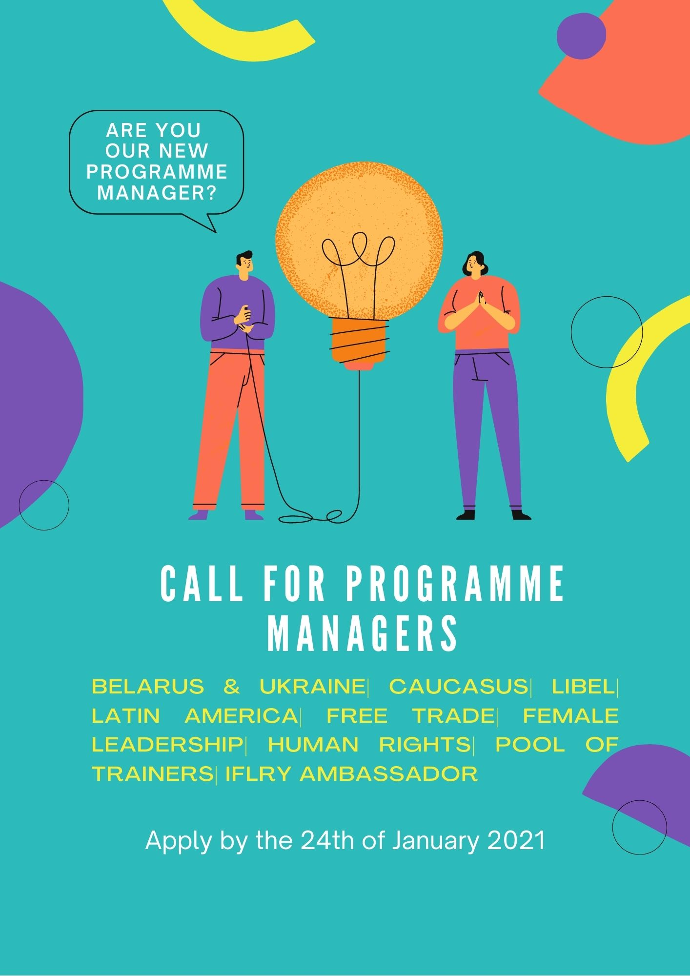 Call For Programme Managers 2021